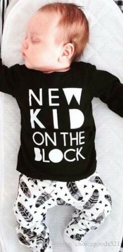 BOYS NEW KID ON THE BLOCK TOP JOGGERS SET OUTFIT 12-18 1824 MONTHS 2-3 3-4 YEARS