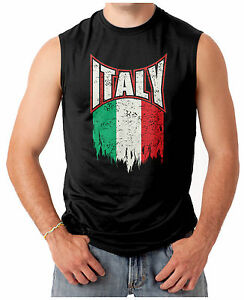 italian pride flag italy men 39 s sleeveless t shirt ebay. Black Bedroom Furniture Sets. Home Design Ideas