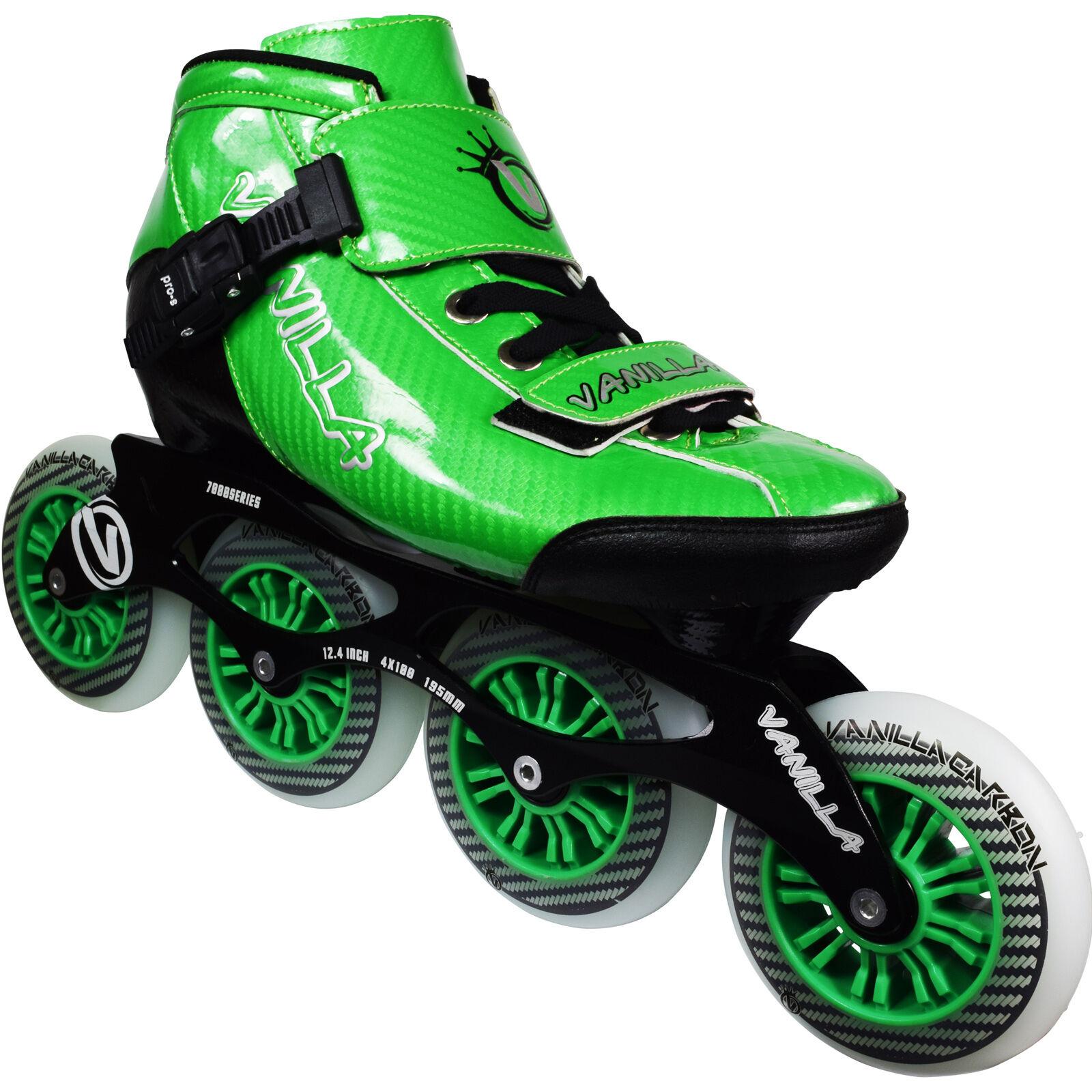 New Grün VNLA Carbon Inline Speed Skate Größe 1-13