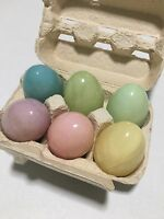 Williams Sonoma Alabaster Eggs Set Carton Of 6 Made In Italy Hand Carved Tuscany