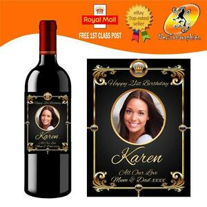 PERSONALISED-PHOTO-WINE-BOTTLE-LABEL-BIRTHDAY-ANY-OCCASION-GIFT