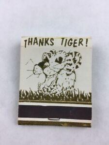 Vintage-Thanks-Tiger-Dancing-Cat-Matchbook