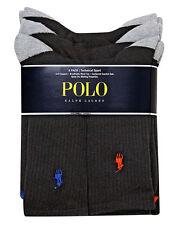 Polo Ralph Lauren Technical Black Crew Sport Socks 6-Pack UK 9-12 Mens