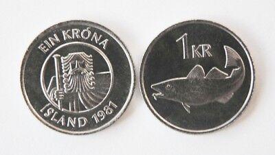 KM27a Iceland 1984 1 Krona Uncirculated