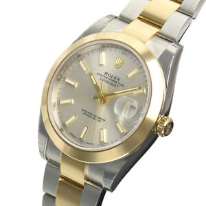 04a49dfb0c7 Rolex DATEJUST 41mm 126303 Mens Steel   Gold Smooth Bezel Silver ...
