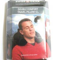 Swiss Gear Travel Pillow Pouch Black Neck Inflatible Cushion Car Office