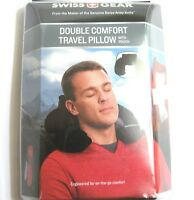 Swiss Gear Travel Pillow Pouch Black Neck Inflatible Cushion Car Office