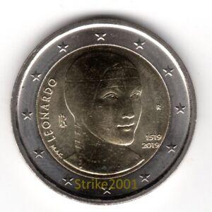 NEW-2-EURO-COMMEMORATIVO-ITALIA-2019-FDC-500-morte-di-Leonardo-Da-Vinci