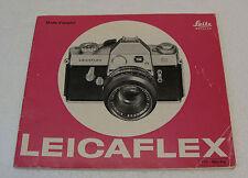 Notice originale Leica pour appareil photo Leicaflex /  E. Leitz Wetzlar