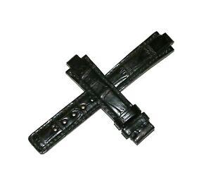 Original-Clerc-16mm-Corra-de-Reloj-de-Piel-Sin-Hebilla-Para-806-Negro