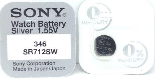 Divers Sony 1.55v Argent Oxyde Mercure Gratuit Batterie Montre Fait en Japon