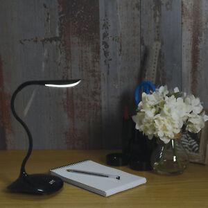 LYYT éclairage Compact DEL USB Lampe de bureau noir
