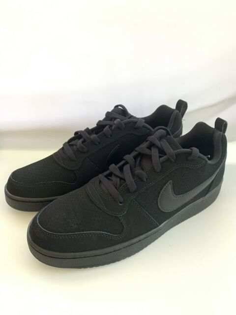 contravveleno età In particolare  Nike Mens Court Borough Low Top Basketball SNEAKERS Black Size 12 Style  838937 for sale online | eBay