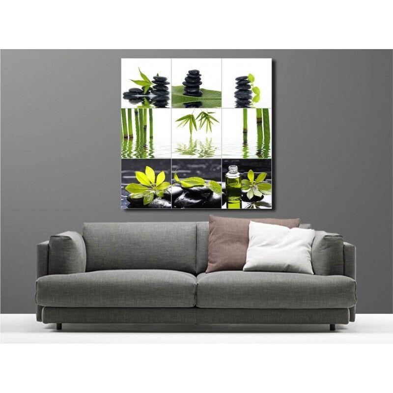 Canvas Fabric Deco Square Pebble Bamboo 27390169