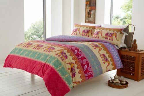Luxuries ELLY ELEPHANT Printed Reversable Duvet Cover+Pillow Case Bedding Set Lw