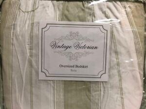 Vintage-Victorian-by-Elizabeth-Anne-TWIN-Oversized-Bedskirt-bed-skirt-NIP-New
