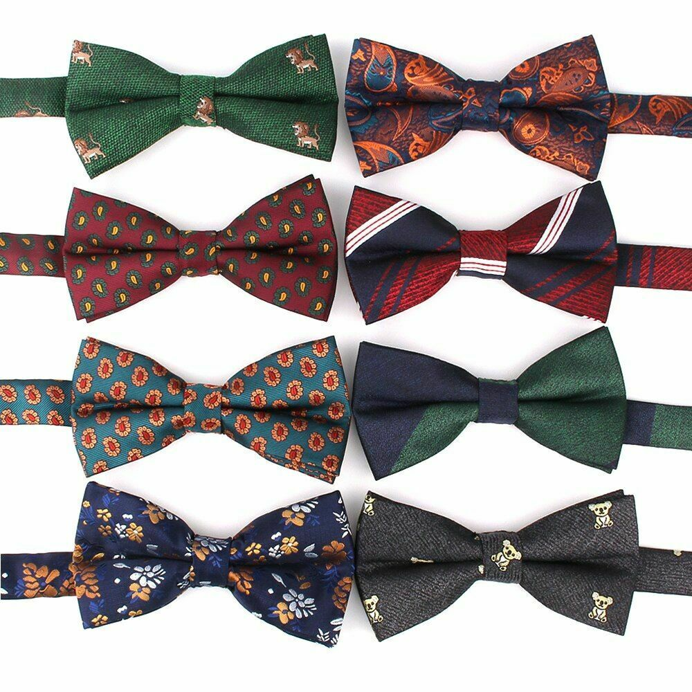 New Bowtie Casual Cartoon Bow Tie For Men & Women Bow Knot Adult Floral Striped