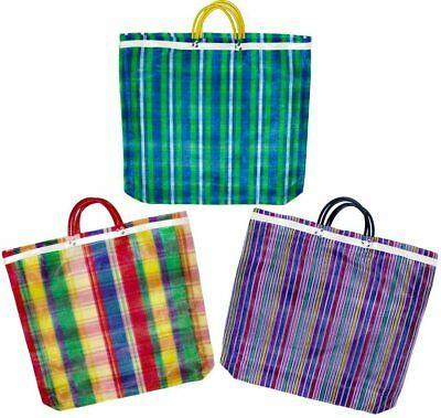 Reusable Mexican Market Tote Grocery Bag Recycled Mesh Shopping Bag Red Color