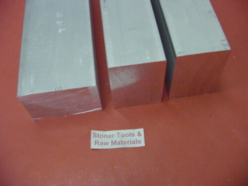 3 Pieces 1-1/2 X 2-1/2 ALUMINUM 6061 FLAT BAR 4 long T6511 Solid Mill Stock