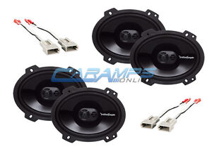 new rockford fosgate car truck stereo front and rear speakers w speaker wiring