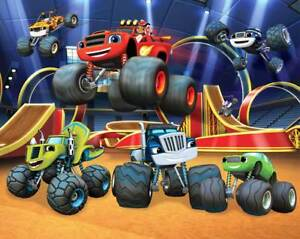Details zu Fototapete Kinderzimmer Jungen Blaze and the Monster Machines  Trucks 3,05x2,44 m