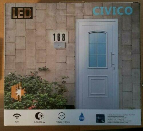 LED-Aussenleuchte Hausnummer mit Bewegungsmelder 4000K NEU