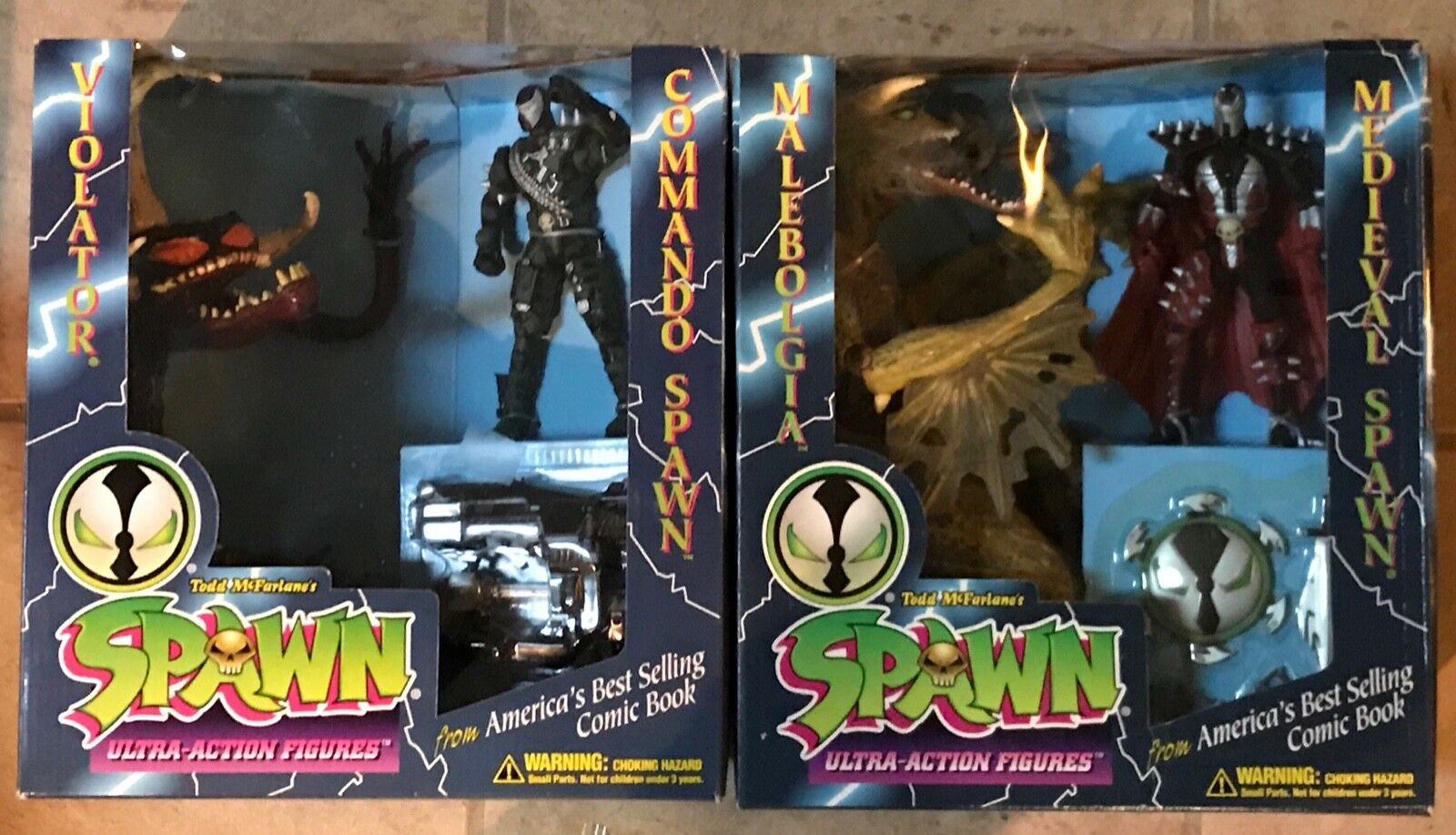 SPAWN  Limited Edition Gift Sets Comhommedo vs contrevenant médiéval vs Malébo Comme neuf on voitured 1995  approvisionnement direct des fabricants