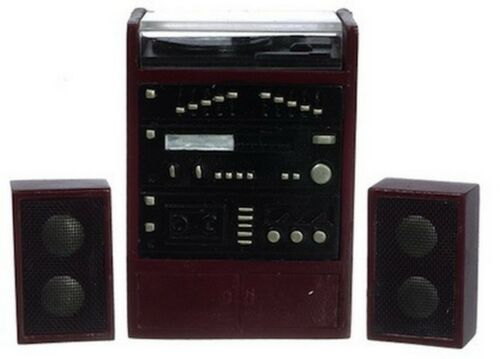 Dolls House Miniatures Hi-Fi 1,12 Scale Music Player Stereo Unit with Speakers