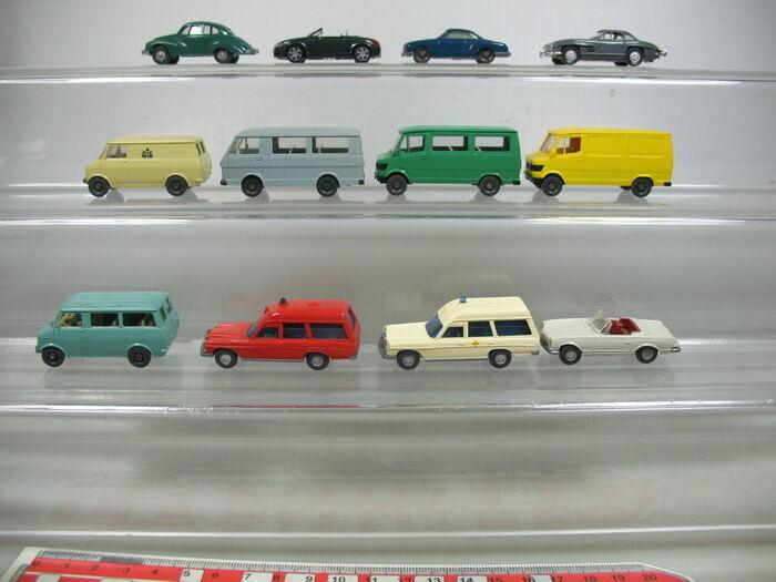Ab116-0, 5x Wiking h0 models  Volkswagen VW, Mercedes MB, Audi, DKW etc