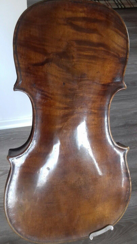 No 341 sehr alte Geige mit Stamp repariert 1970 Froto Curtius Gotha