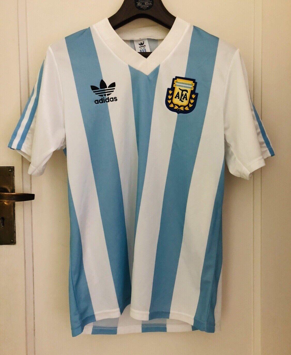 Vintage, Viejo & Raro Adidas plataina Fútbol Camiseta Top-hecho en 1991
