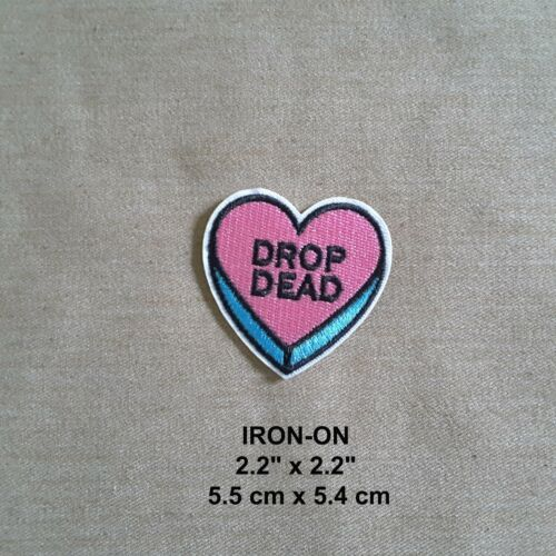 """/""""Kiss my Patch/"""" Red Lips Embroidery Iron-on Emblem Badge Patch Pink OFF Applique"""