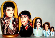 Nesting doll Michael Jackson /Russian doll 7 inch handmade Michael Jackson