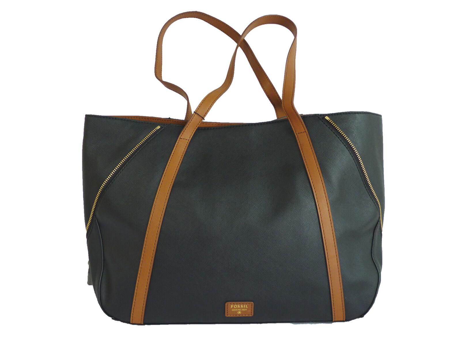 FOSSIL FOSSIL FOSSIL Damen Tasche Tragetasche Shopper Handtasche schwarz-braun NEU | Die Farbe ist sehr auffällig  | Langfristiger Ruf  | Billiger als der Preis  e1f75e