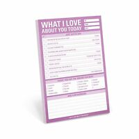 Knock Knock What I Love About You Today Pad (12275) Free Shipping