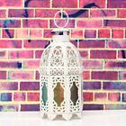 Metal Glass Hollow Hanging Table Light Candle Holder Wedding House Lantern Decor