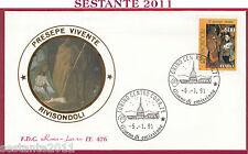 ITALIA FDC ROMA LUXOR 476 NATALE PRESEPE VIVENTE RIVISONDOLI 1991 TORINO T800