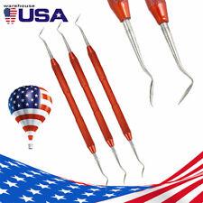 3 Dental Lab Knife Handle Wax Carve Knife Steel Plaster Carving Tools Rosegold