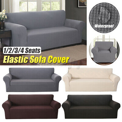 1//2//3//4 Seater Stretch Chair Sofa Covers Couch Cover Elastic Slipcover Protector