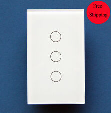 Livolo 3 gang touch remote control light switch (US Type) / SmartHome / Wireless