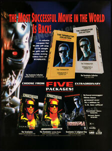 TERMINATOR-2-Judgment-Day-Original-1995-Trade-print-AD-video-promo-advert-T2