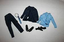 """1/6 Scale blue suit  for 11"""" or 12"""" action figure 1/6th scale tie shoes black"""