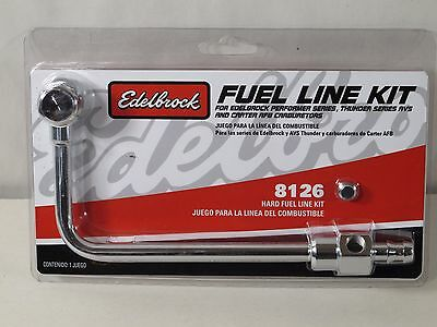 3//8 Inch Hose Barb Inlet Edelbrock 8126 Performer Carb Fuel Line Kit
