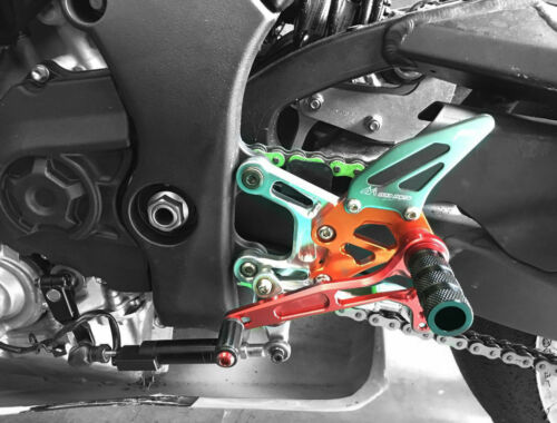 Adjustable Quick Shifter Rearset Reverse Shift Foot Pegs KAWASAKI ZX-10R 16-2018