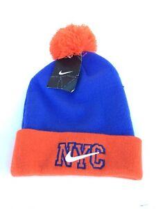 11c66033b3c NWT Nike NYC New York City Winter Swoosh Logo Pom Beanie Hat Cap ...