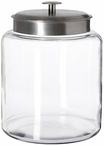 Anchor-Hocking-Montana-Glass-Jar-with-Airtight-Lid-Brushed-Metal-2-Gallon
