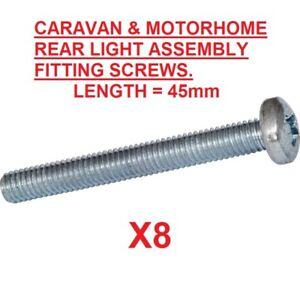 Caravan Rear Light Assembly Fixing Cavity 35mm Screw /& Rubber Grommet Fits Most