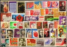 RUSSIA-100 All Different-Large & Small-Used-Thematic Postage Stamps