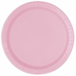 Image is loading Pale-Baby-Pink-Pastel-22cm-Paper-Party-Dinner-  sc 1 st  eBay & Pale Baby Pink Pastel 22cm Paper Party Dinner Plates | Celebration ...