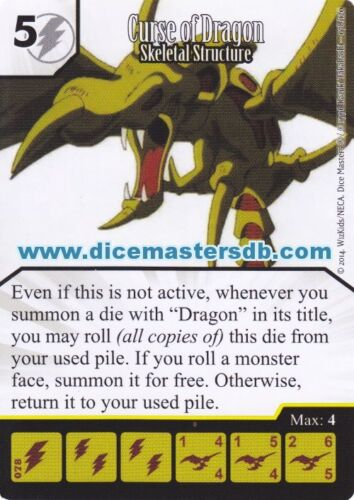 Curse of Dragon Skeletal Structure #078 Dice Masters Yu-Gi-Oh!